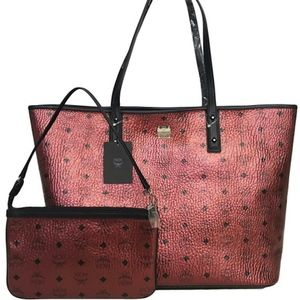 MCM coated canvas tote bag.